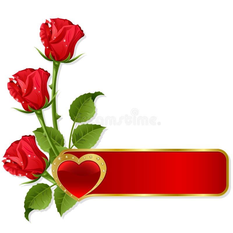 Fondo al St.Valentine stock de ilustración