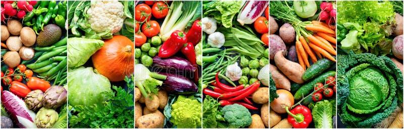 Fondo alimentario con una variedad de hortalizas orgánicas frescas fotos de archivo libres de regalías