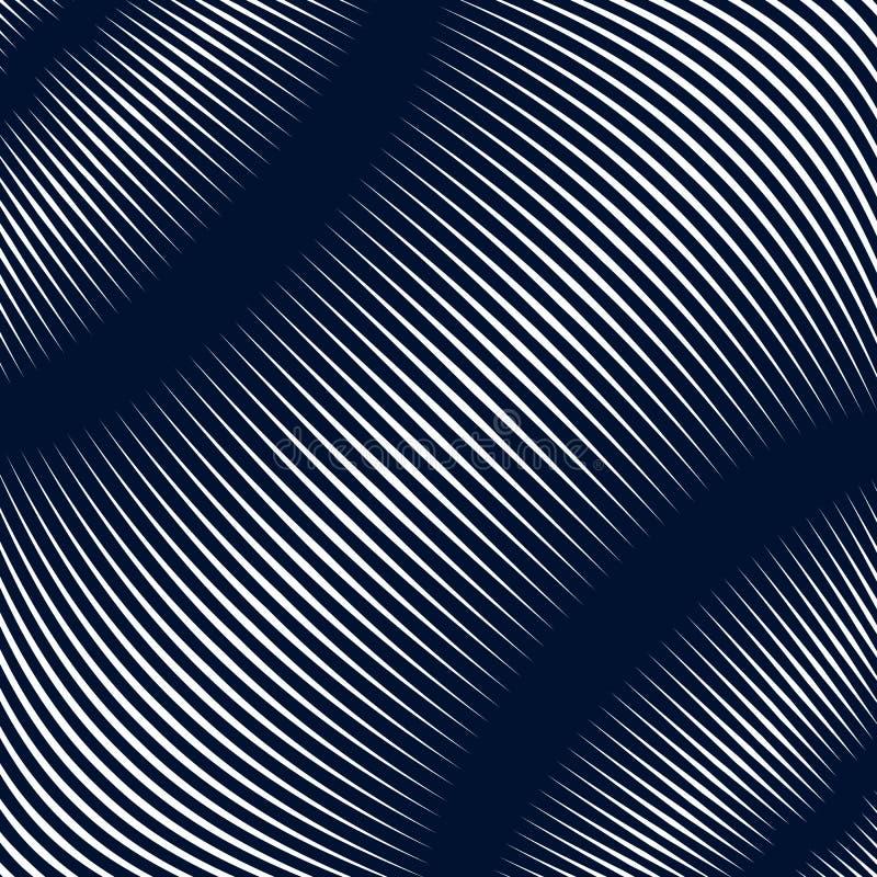 Fondo alineado extracto, estilo de la ilusión óptica Líneas caóticas libre illustration