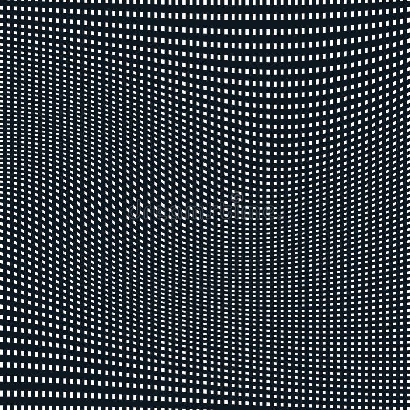 Fondo alineado extracto, estilo de la ilusión óptica Líneas caóticas ilustración del vector
