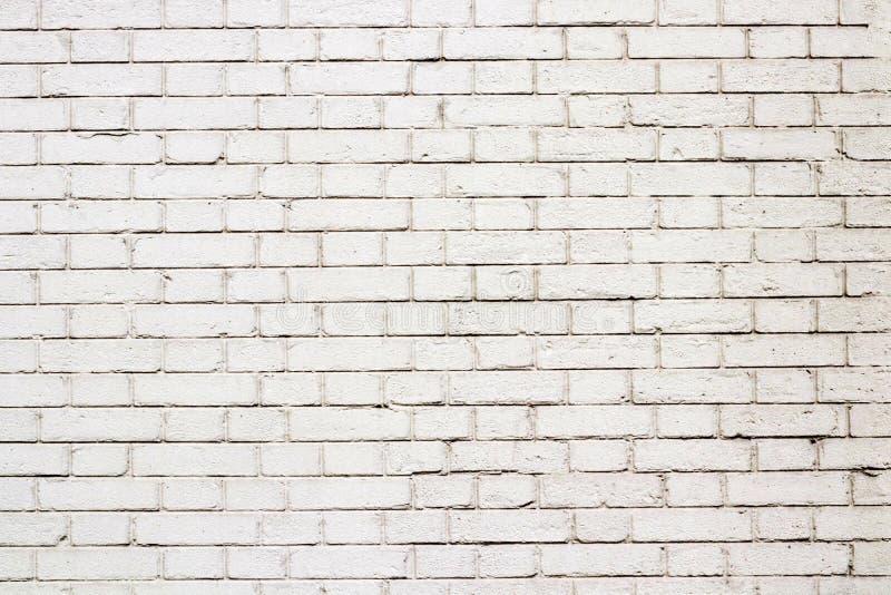 Fondo all'aperto del muro di mattoni bianco fotografie stock