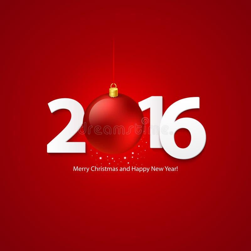 2016 fondo allegro del buon anno e di Chrstmas royalty illustrazione gratis