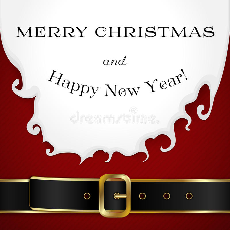 Fondo allegro di Christamas con Santa Claus illustrazione vettoriale