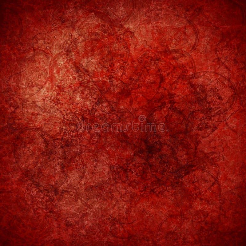 Fondo altamente textured del arte del rojo de Grunge ilustración del vector