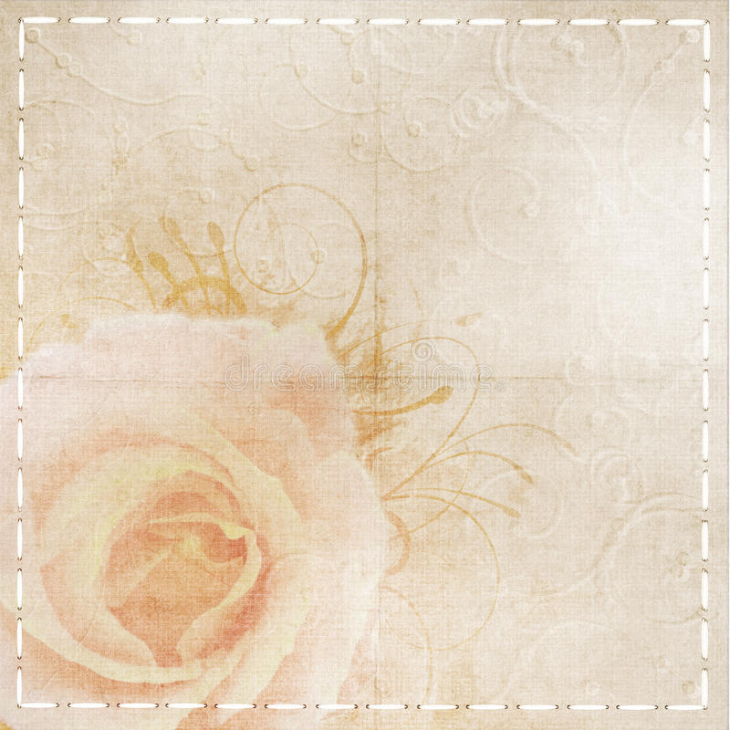 Fondo amarillento de la boda de la vendimia imágenes de archivo libres de regalías