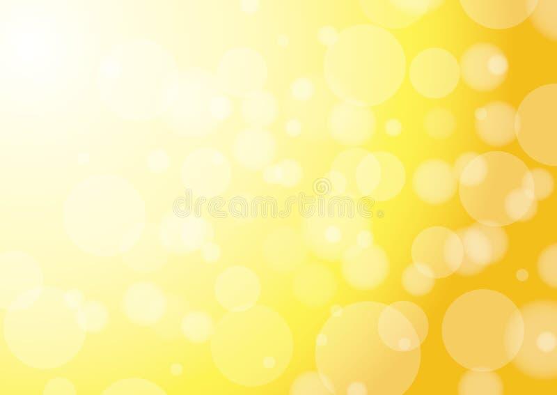 Fondo amarillo abstracto stock de ilustración