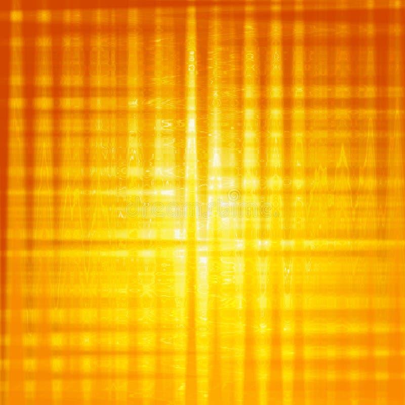 Fondo amarillo abstracto con los cuadrados brillantes ilustración del vector