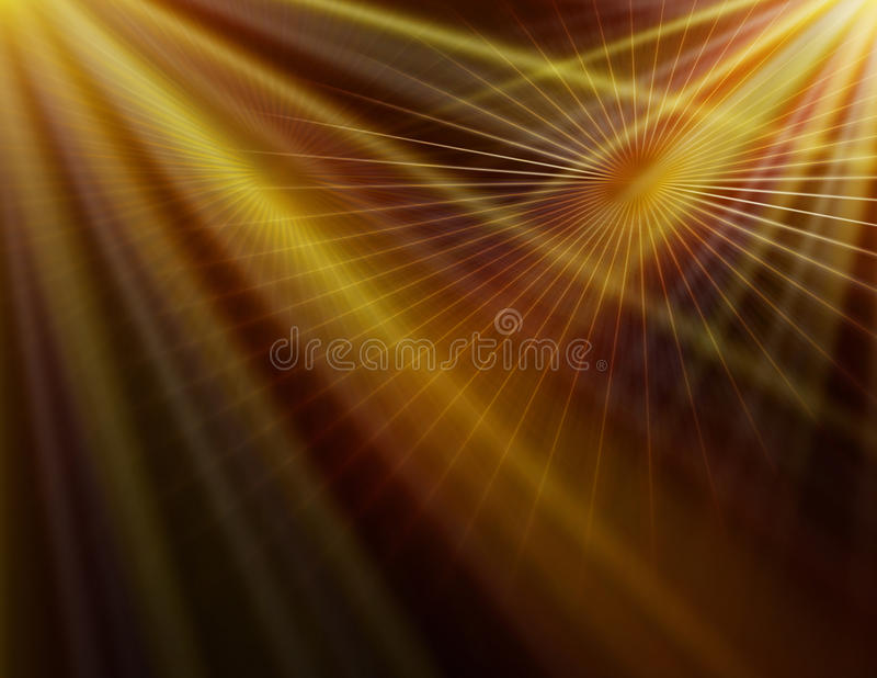 Fondo amarillo abstracto de la tecnología stock de ilustración