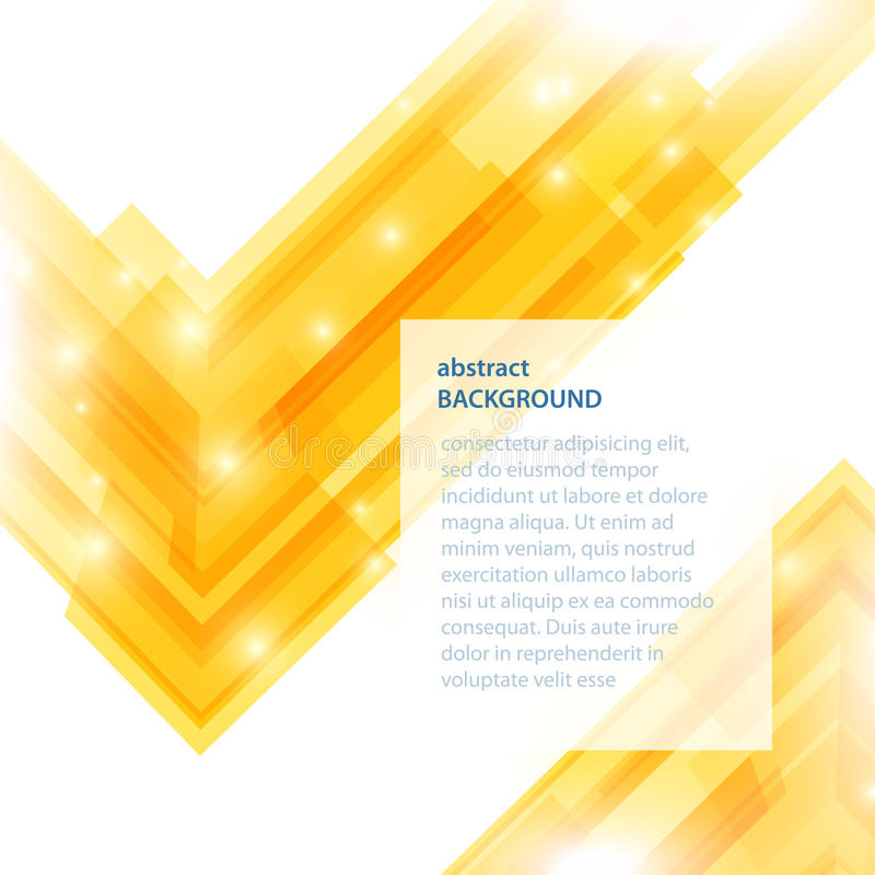 Fondo amarillo abstracto. Ejemplo del vector. libre illustration