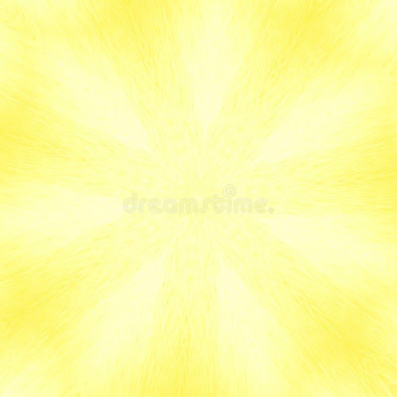 Fondo amarillo abstracto, modelo del estilo del caleidoscopio ilustración del vector
