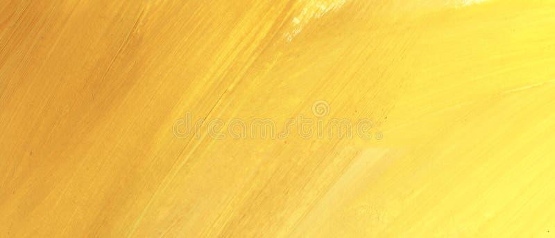 Fondo amarillo abstracto Pintado a mano en un ejemplo de papel foto de archivo libre de regalías