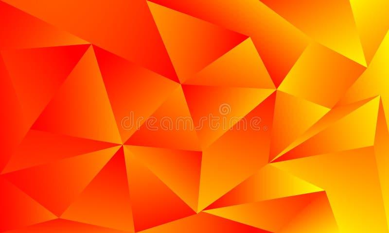 Fondo amarillo anaranjado brillante de los colores del extracto stock de ilustración