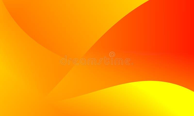 Fondo amarillo anaranjado brillante de los colores del extracto Ilustración del vector stock de ilustración