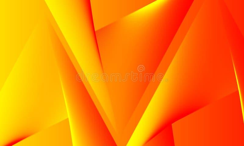 Fondo amarillo anaranjado brillante de los colores del extracto libre illustration