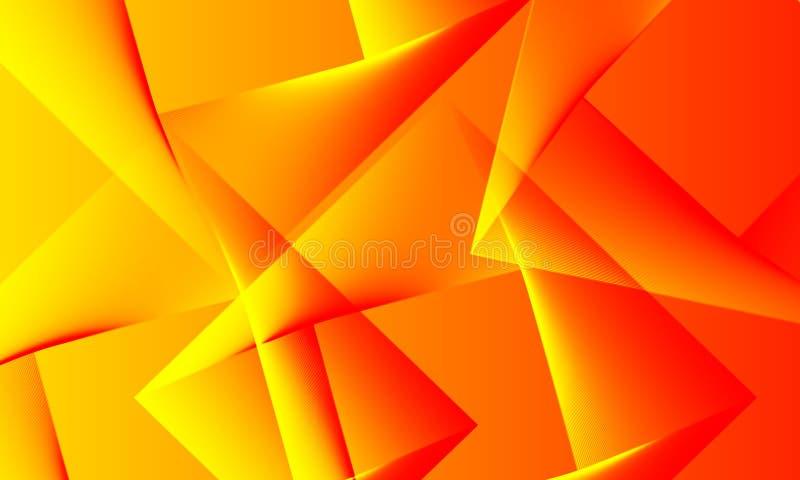 Fondo amarillo anaranjado brillante de los colores del extracto ilustración del vector