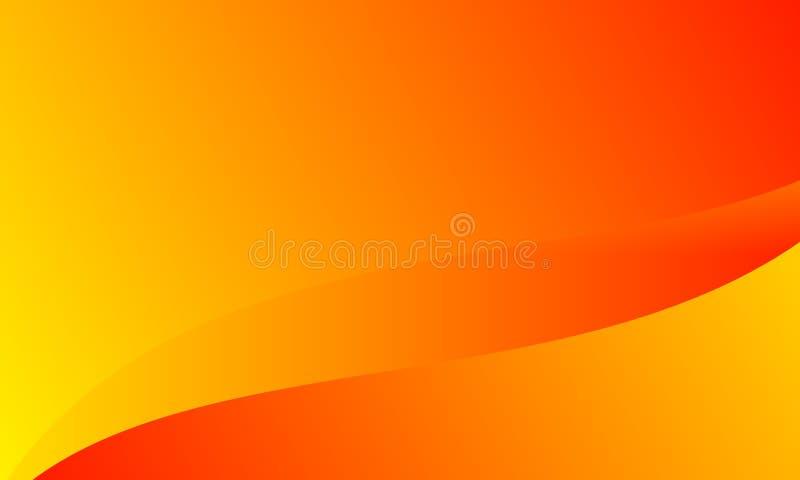 Fondo amarillo anaranjado brillante de los colores del extracto Ilustraci?n del vector libre illustration
