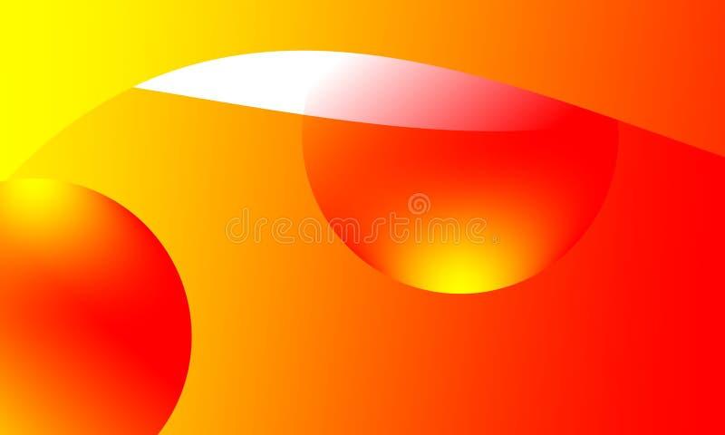 Fondo amarillo anaranjado brillante de los colores del extracto Vector IL ilustración del vector