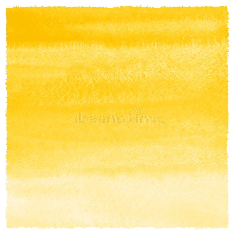 Fondo amarillo de la acuarela de la pendiente con los bordes ásperos libre illustration