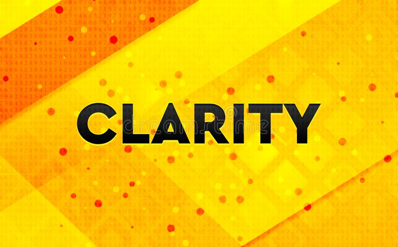 Fondo amarillo de la bandera digital abstracta de la claridad libre illustration
