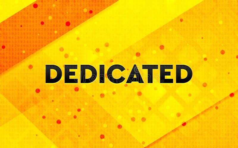 Fondo amarillo de la bandera digital abstracta dedicada stock de ilustración
