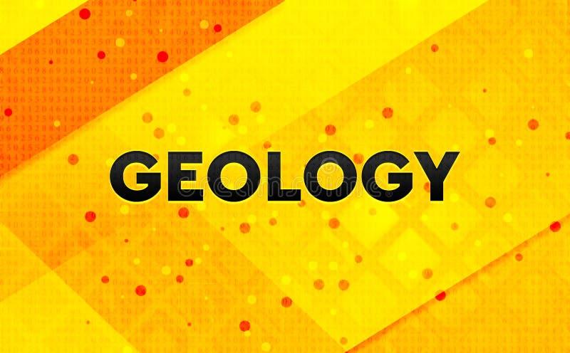 Fondo amarillo de la bandera digital abstracta de la geología libre illustration