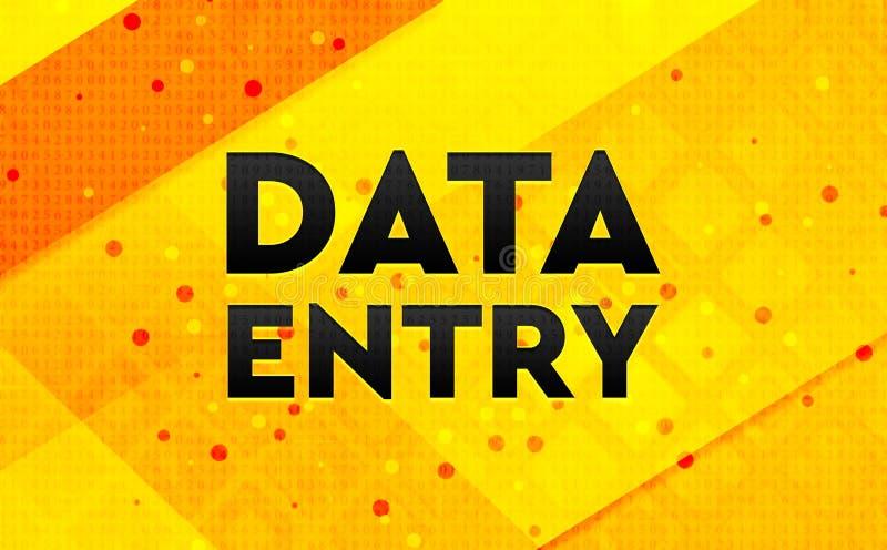 Fondo amarillo de la bandera digital del extracto de la entrada de datos ilustración del vector