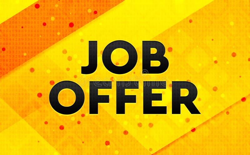 Fondo amarillo de la bandera digital del extracto de la oferta de trabajo libre illustration