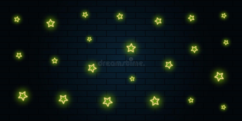 fondo amarillo de la estrella de neón del extracto libre illustration