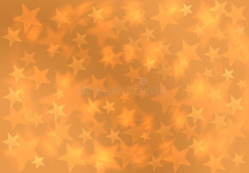 Fondo amarillo de oro Patt del regalo de la Navidad de la estrella de la falta de definición de la moda stock de ilustración
