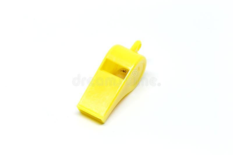 Fondo amarillo del blanco del silbido foto de archivo libre de regalías