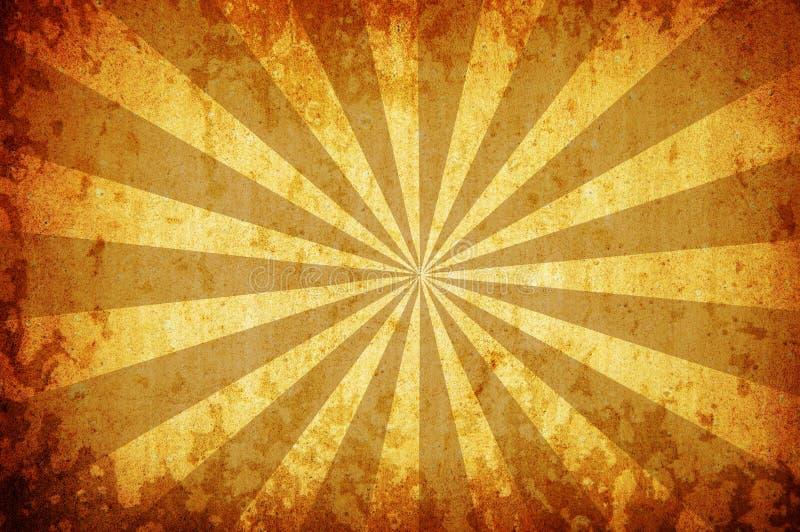 Fondo amarillo del grunge de la vendimia con los rayos del for Fondo del sol