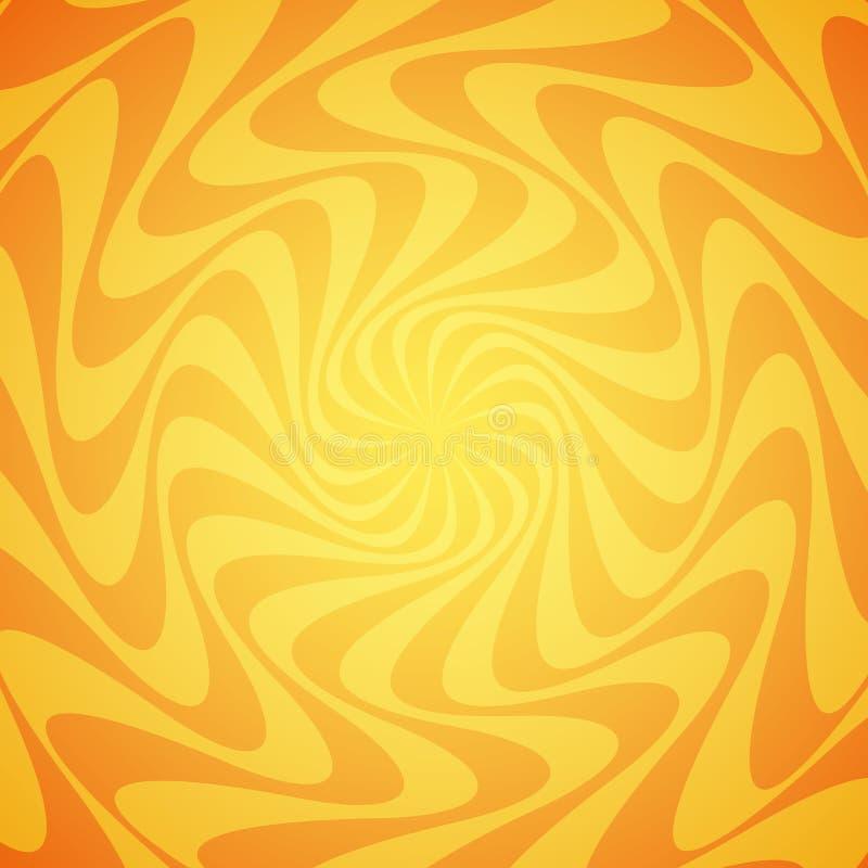 Fondo amarillo del rayo de sol del grunge Sun irradia el papel pintado abstracto Diseño superficial del modelo con las líneas sim ilustración del vector
