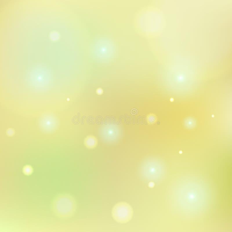 Fondo amarillo limón del tono de Bokeh ilustración del vector