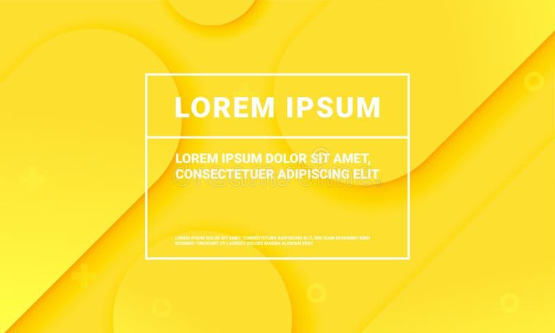 Fondo amarillo mínimo Plantilla flúida de la textura del modelo del color del extracto del vector stock de ilustración