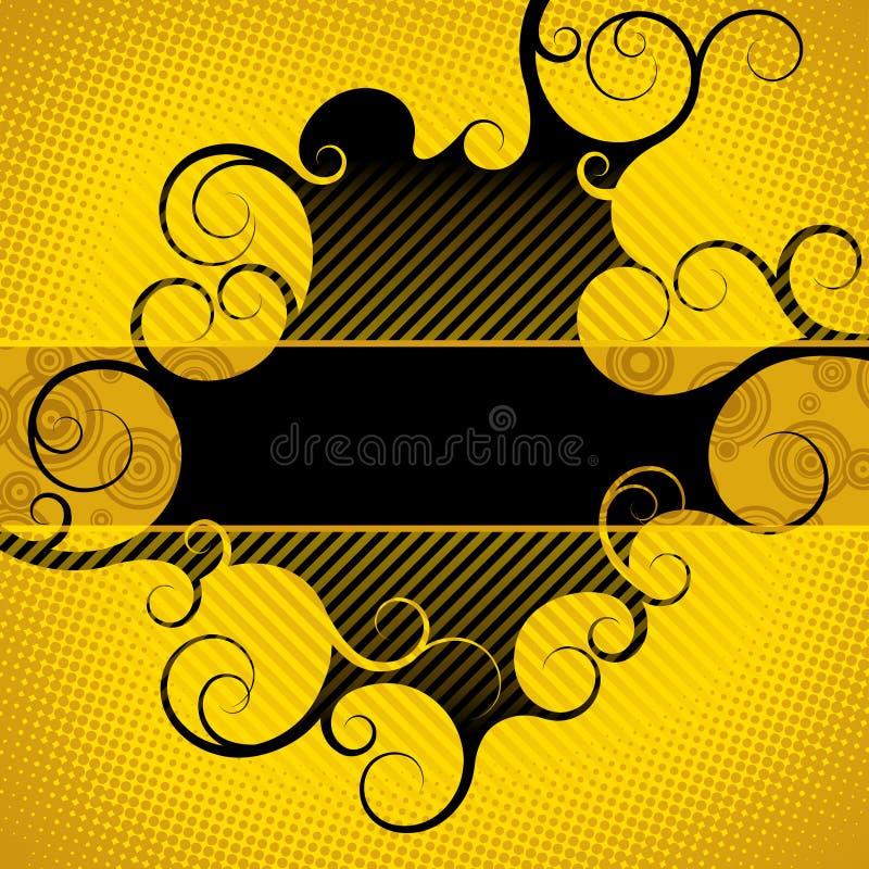 Fondo amarillo-negro abstracto ilustración del vector