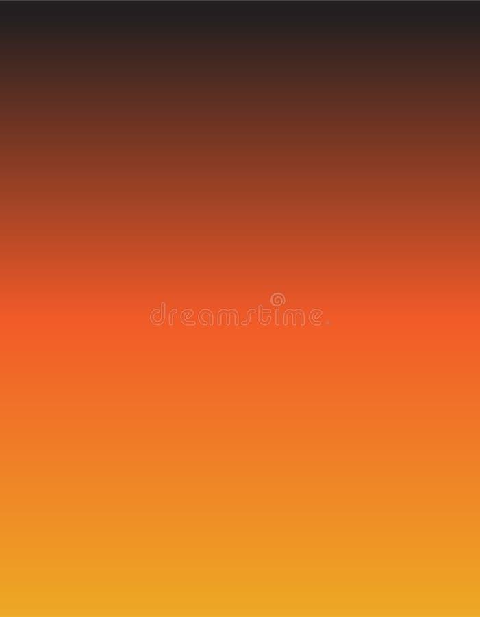 Fondo amarillo, negro y anaranjado de la pendiente ilustración del vector