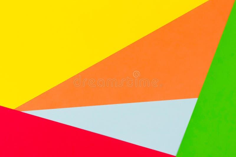Fondo Amarillo, Rojo, Verde, Azul Y Anaranjado De Papel