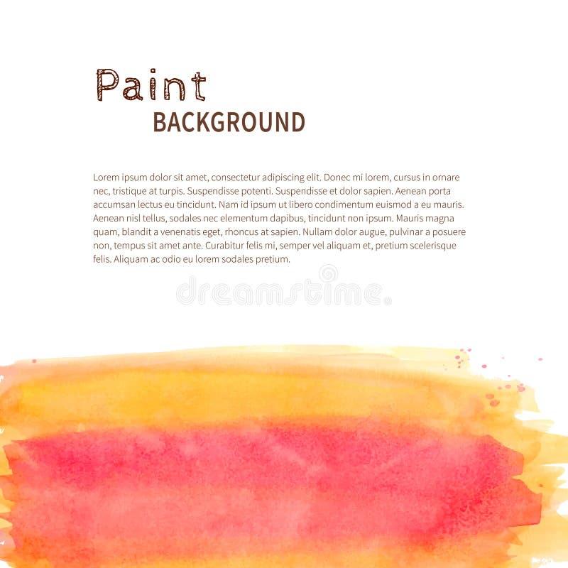Fondo amarillo rosado de la pintura de la acuarela libre illustration
