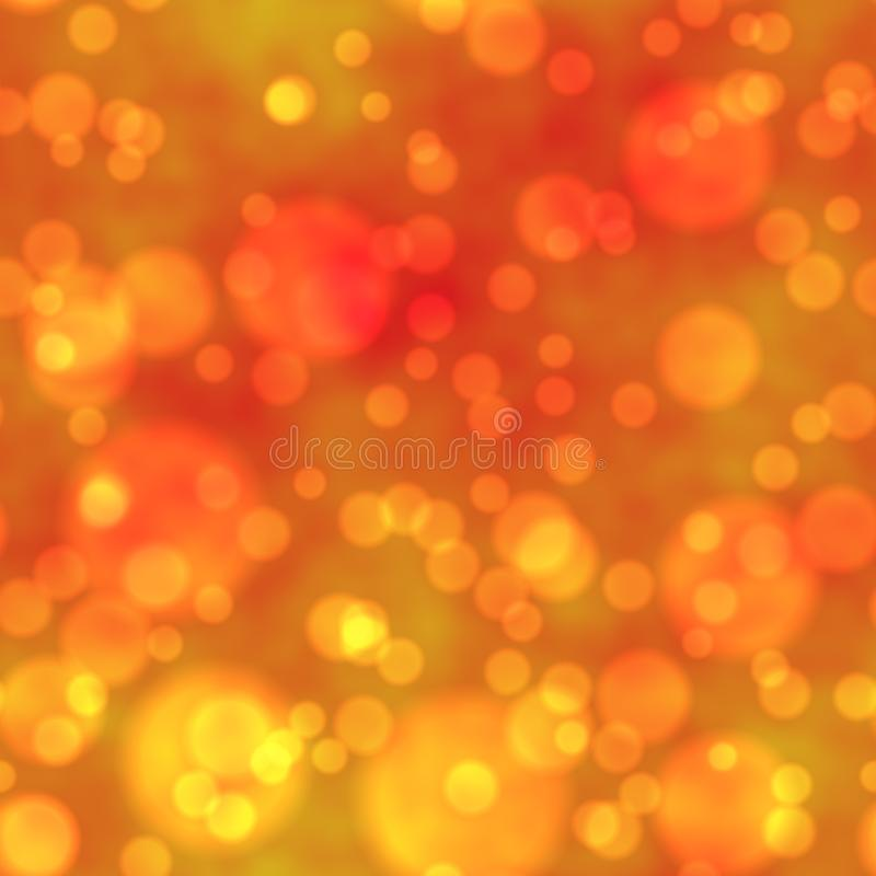 Fondo amarillo y anaranjado inconsútil de la textura del modelo del bokeh ilustración del vector