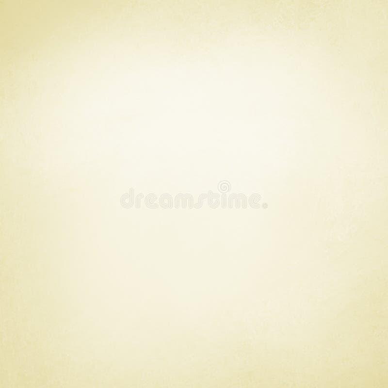 Fondo amarillo y blanco en colores pastel en diseño texturizado simple llano, fondo del beige o del color crema con el texto débi stock de ilustración