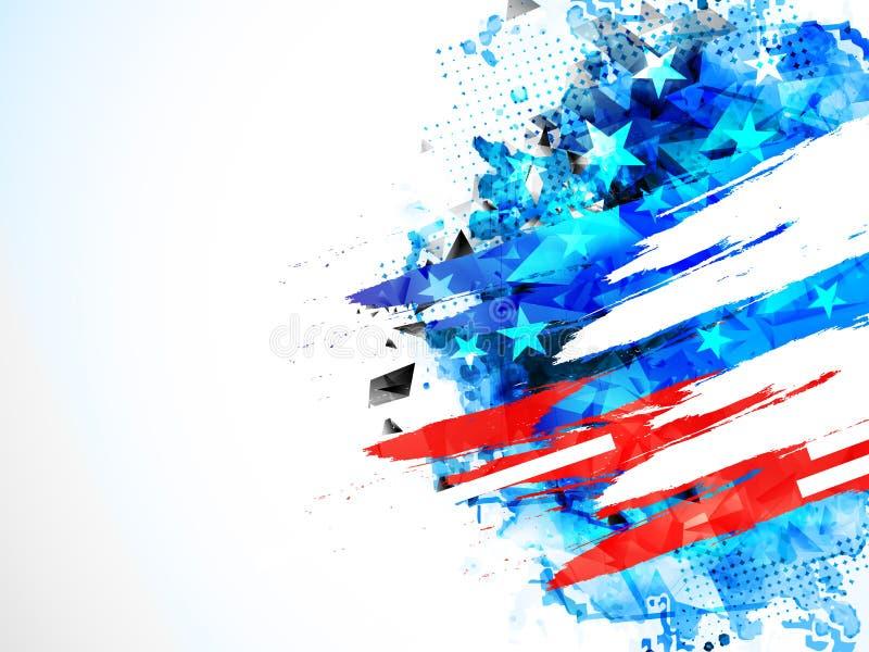 Fondo americano de la celebración del Día de la Independencia libre illustration