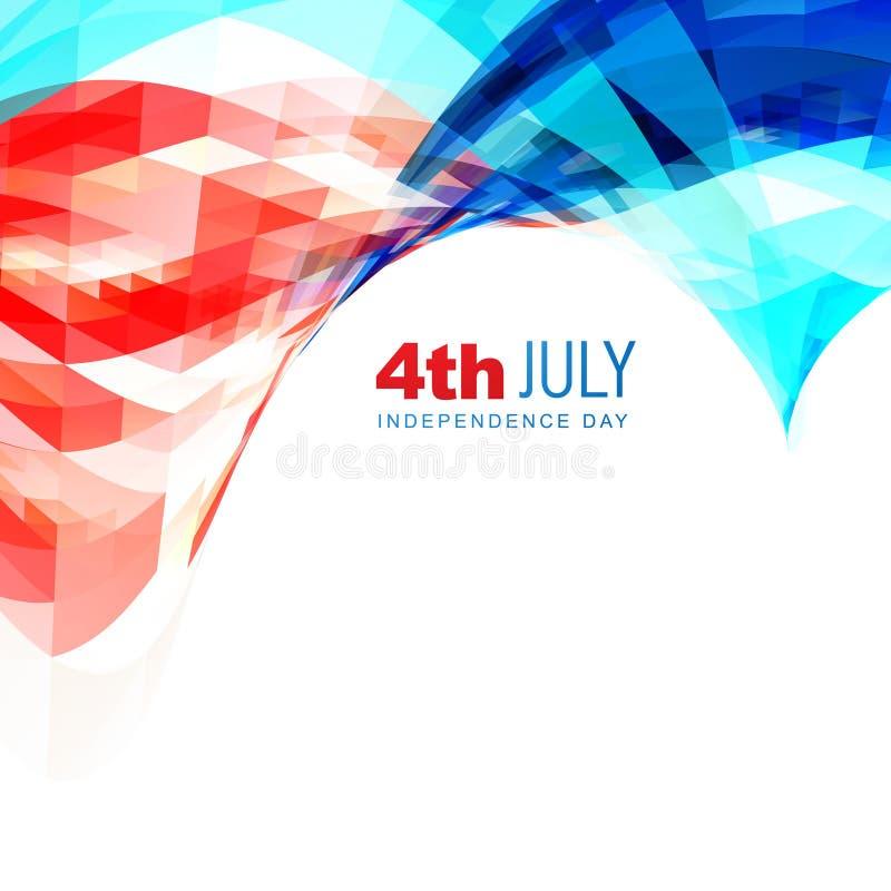 Fondo americano del Día de la Independencia libre illustration