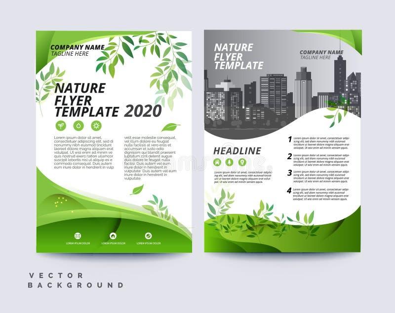 Fondo amichevole del modello dell'opuscolo di eco verde illustrazione di stock