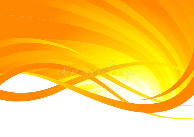 Fondo anaranjado abstracto stock de ilustración