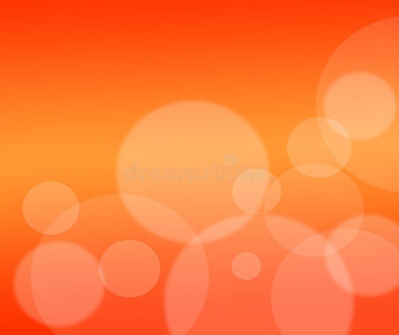 Fondo anaranjado abstracto con la tarjeta de las partículas .holiday libre illustration