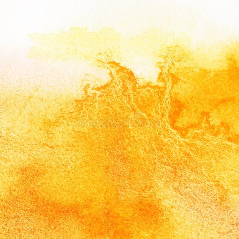 Fondo anaranjado abstracto de la acuarela stock de ilustración