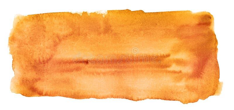 Fondo anaranjado abstracto de la acuarela aislado foto de archivo libre de regalías