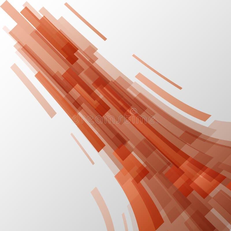 Fondo anaranjado abstracto de la tecnología de los elementos ilustración del vector