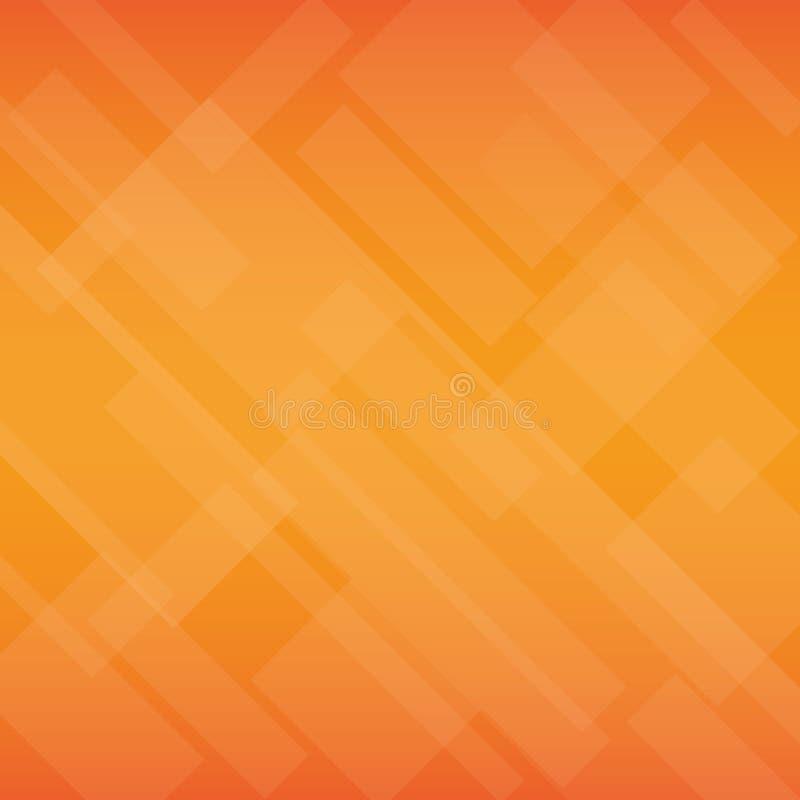 Fondo anaranjado con muchos cuadrados ilustración del vector