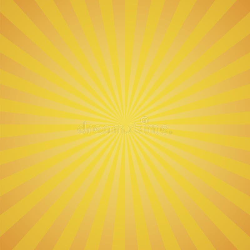 Fondo anaranjado de explosión de color Ilustración del vector ilustración del vector